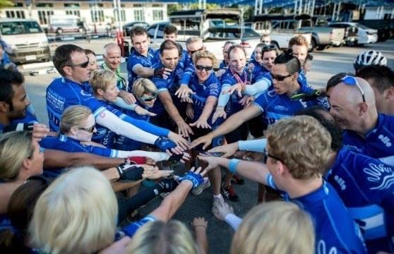 Hands across the water - charity bike ride - scottpartners